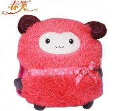 赔本促销『春笑牌』CX-KT18卡通毛绒双插手电热水袋粉羊
