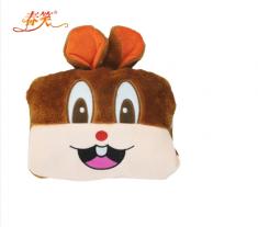 赔本促销『春笑牌』CX-KT05卡通毛绒双插手电热水袋咖啡兔