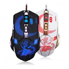 雷技灵狐7D 全静音按键 4色发光宏定义游戏鼠标