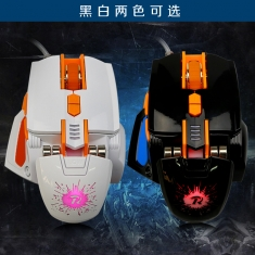 赔本促销劳诺新款X9机械光电鼠标自定义宏cf LOL金属游戏大鼠标