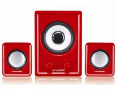 新款蓝悦C1 2.1多媒体有源音箱 桌面立体优雅之作 红黄可选