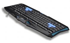 雷技霹雳神九游戏键盘 有线usb 笔记本电脑办公防水键盘 CF LOL