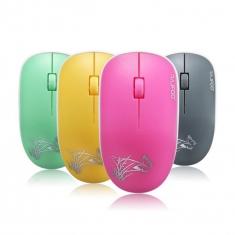 雷技V1光电无线鼠标 笔记本办公 可爱女生小鼠标送电池