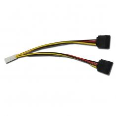 SATA电源线 一分二 串口电源线 IDE 大四芯 D型4P转双SATA串口线