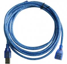 美鱼儿1.5米-3米-5米-10米高速防磁 USB延长线 蓝色
