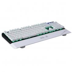 直降剑圣一族自由之刃K2 白色网吧专用新款游戏三色变光多媒体带快捷键盘