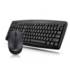 新品特价烽火狼 SR-8100 无线2.4G键鼠黑色套装游戏办公