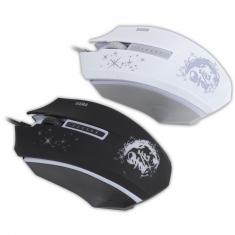 先马星辰V3 台式机电脑笔记本鼠标 办公网吧游戏鼠标USB有线白色
