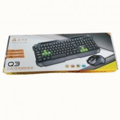 新品金河田Q3无线套装2.4G 传输键鼠