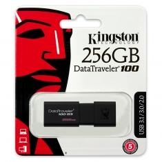 金士顿 DT100 G3 256G u盘 高速USB3.0伸缩推拉U盘