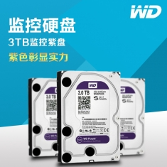 全国联保正品西部数据 WD/1T紫/ 2T紫盘-3T紫-4T紫 64M  3.5寸紫盘 监控级硬盘
