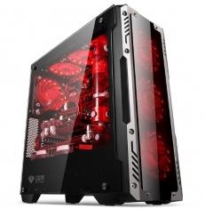 金河田峥嵘Z2电脑台式机游戏水冷主机箱 玻璃面板大侧透 ATX机箱