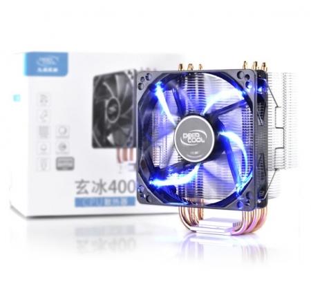 九州风神玄冰400 CPU散热器GT4热管RGB台式机115X静音风扇AM4电脑