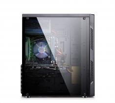 金河田炫豪1  电脑机箱台式机ATX中塔式亚克力全侧透游戏机箱