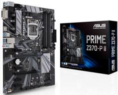 华硕PRIMEZ370-P II 台式机游戏电脑主板支持八代CPU 1151针大板