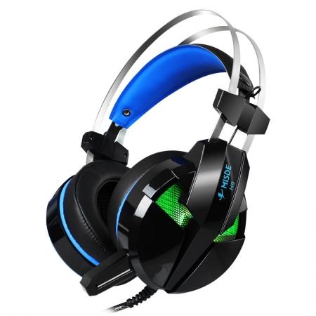 梅赛德H9精钢头戴发光版电竞重低音发光游戏耳麦头戴式耳机带麦克风