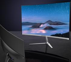夏新W2488S 24英寸金属一体曲面高清屏幕VGA+HDMI接口