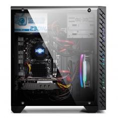 金河田预见M8台式机电脑水冷游戏机箱RGB灯效侧透个性M-ATX空箱