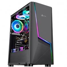 金河田机箱魅影2电脑主机箱台式机组装全透明电源ATX游戏办公机箱
