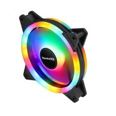 航嘉 GS120流星炫彩机箱风扇12*12 内圈+外圈发光台式机电脑