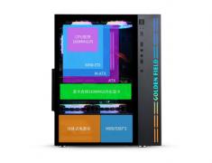 金河田小清新曜石黑RGB光控金河田机箱钢化玻璃侧透支持水冷